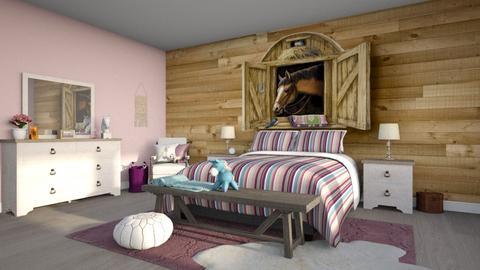 Horse Bedroom - Bedroom - by smunro7