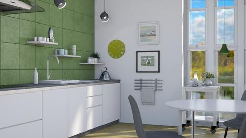 Scandi green - Modern - Kitchen - by augustmoon