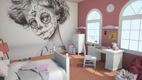Little pink girl - Kids room - by Sali15