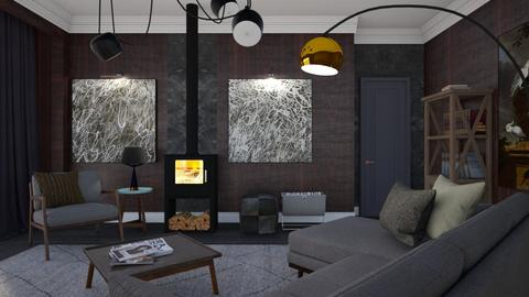 Wood and grey  - Modern - Living room - by augustmoon