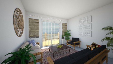 beach - Living room - by Kylie Gallant