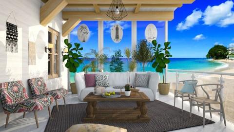 Relaxing in the Beach - by DeborahArmelin