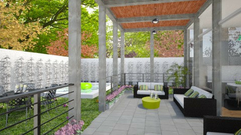 modern porch - Garden - by CHARLOTTE06