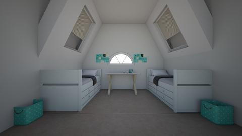 bedroom 1 - Modern - Bedroom - by NEVERQUITDESIGNIT