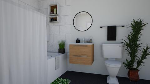 Black accents - Modern - Bathroom - by elizabethwatt16