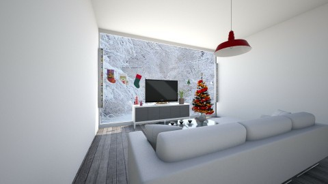 Christmas Living Room - Modern - Living room - by KKIsCrazyAF