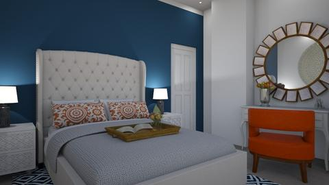 Orange and Blue - Eclectic - Bedroom - by klmmorales