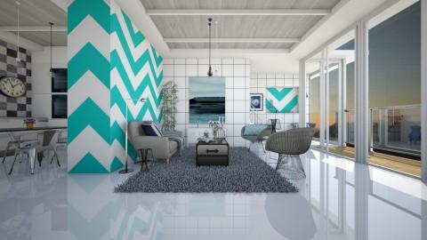 b and w - Modern - Living room - by nikolaiR6971