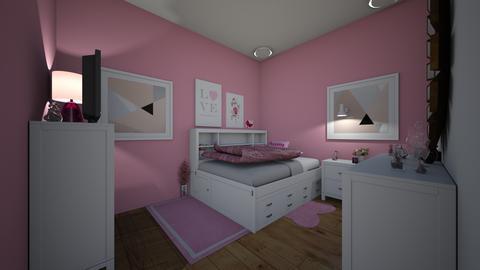 pink room - Feminine - Bedroom - by jade1111
