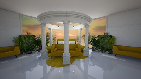 garden room - Bedroom - by belle alderton