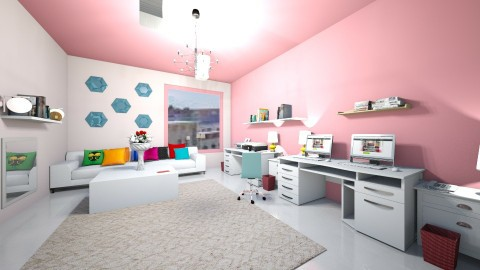 An Office For Chic - Feminine - Office - by tweeter
