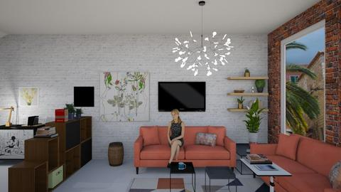student loft - Living room - by Tara T