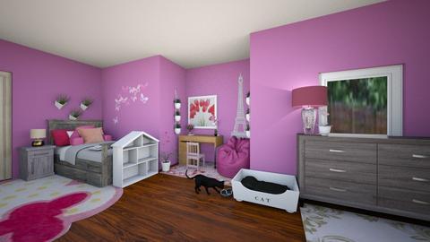 Lil sis room - Modern - Kids room - by kaimunoz0600