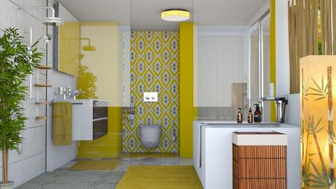 YELLOW BATH - Bathroom - by KC Pechangco