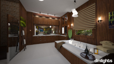 In the Forest - Rustic - Bathroom - by DMLights-user-981898