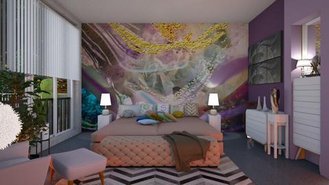 Playful bedroom mural - Bedroom - by Sue Bonstra