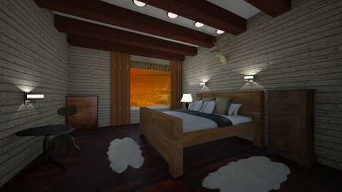 old wood bedroom - by rroland98