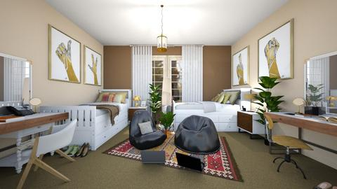 2 person dorm choco - Rustic - Bedroom - by tienshwang