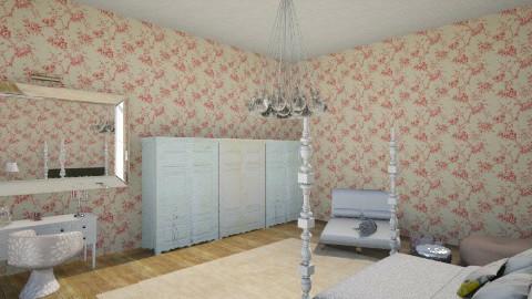 flower bedroom - Bedroom - by Ana Monteiro