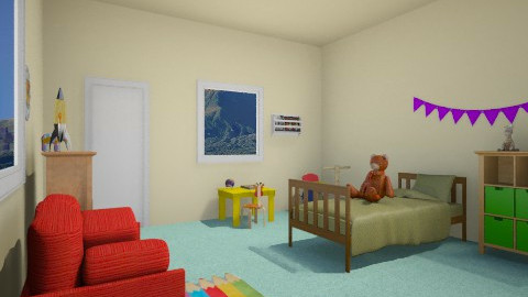 colourful - Kids room - by tinin