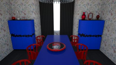 Red and blue 2 no light - Modern - Dining room - by Perpetto