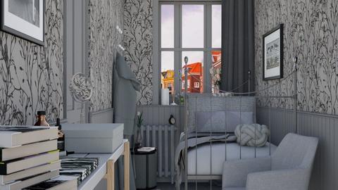 Grey - Classic - Bedroom - by HenkRetro1960