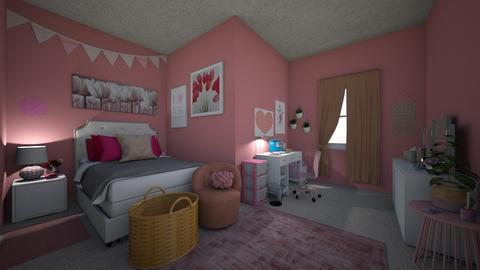 pink bedroom - Bedroom - by starkey77