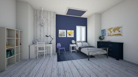 Navy Bedroom - Bedroom - by Sunny Bunny