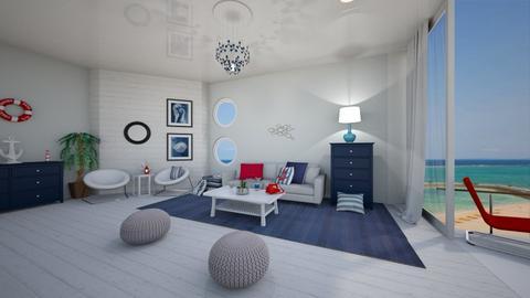 Beach House - Living room - by waibelmackenzie