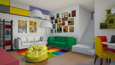 Basement Den - Modern - Kids room - by camilla_saurus