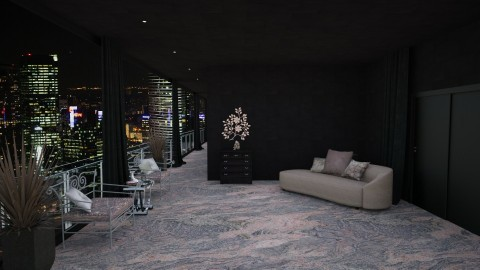 Night into Stones - Glamour - Living room - by Artem Vivendi