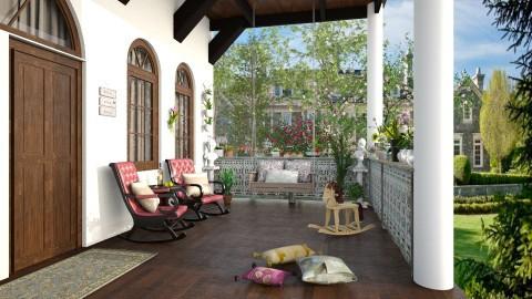 Antique Balcony - Vintage - by DeborahArmelin