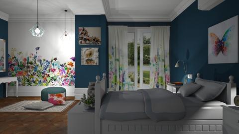 S_Wild Flower Meadow II - Bedroom - by Shajia