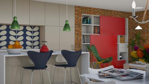 Modern Boho III - Eclectic - Kitchen - by Theadora