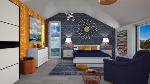 M_ OrangeBlue Br - Bedroom - by milyca8