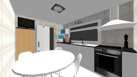 cocina1 - Modern - Kitchen - by Diana Dato