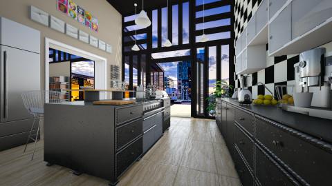 Kitchen_02 - Modern - Kitchen - by evahassing