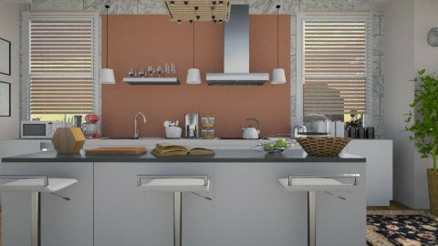 Kitchen for Three - Modern - Kitchen - by cheyjordan