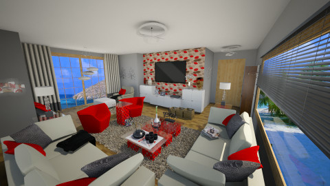 red - Living room - by marija1706