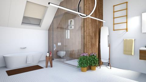 wooden bath  - Modern - Bathroom - by zayneb_17