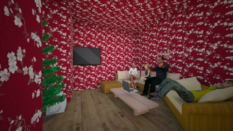 Entry For Christmas - Modern - Living room - by msgtristin