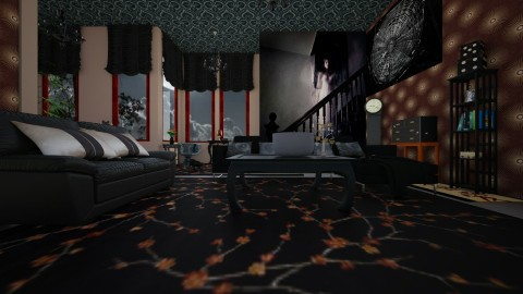 Design A Haunted House 3 - Living room - by Suzanne Hoskins