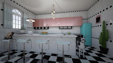 Checkered vintage kitchen - Retro - Kitchen - by yaizalloriginal