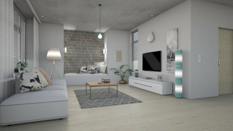 II - Modern - Living room - by evahassing