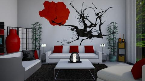 japanese art - Living room - by allday08