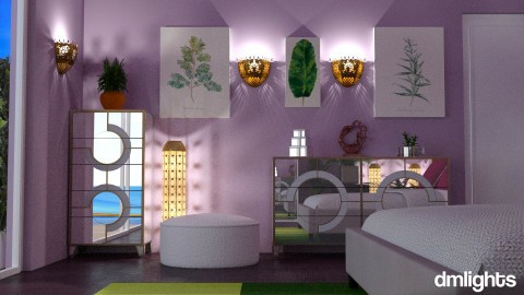 Purple and Green bedroomz - Modern - Bedroom - by Perta