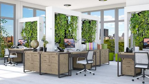 Green work - Office - by Lizzy0715