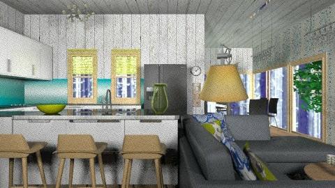 Woodland house - Retro - Kitchen - by Amy Neil