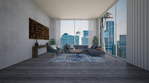 tel aviv apartment  - Living room - by kaplanamit111