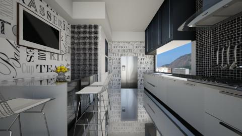 Cozinha Estreita - Kitchen - by Sanare Sousa